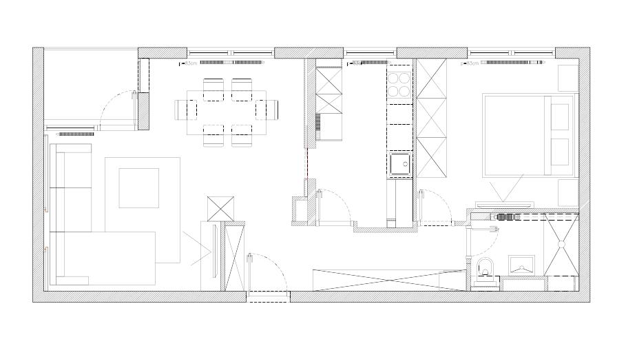 Tlocrtni raspored stana, Mirjana Mikulec interijeri (MMI)