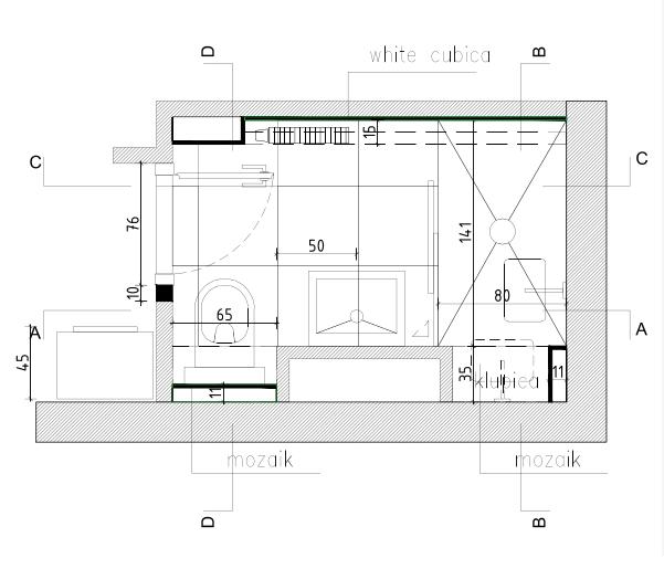 Novi tlocrtni raspored kupaonice, Mirjana Mikulec interijeri